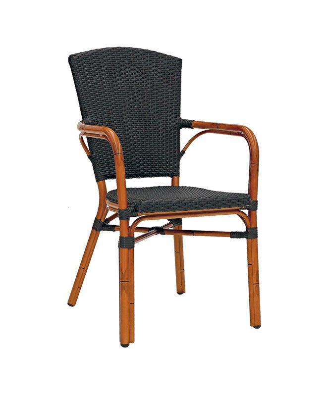 M0253 fauteuil tress le mobilier du pro for Mobilier tresse exterieur