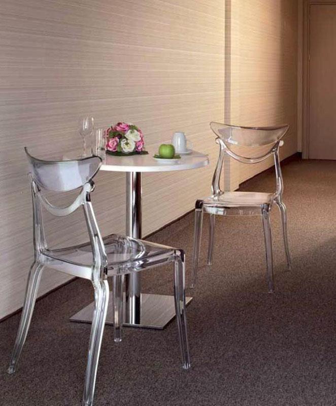 M0434 chaise translucide le mobilier du pro for Chaise translucide