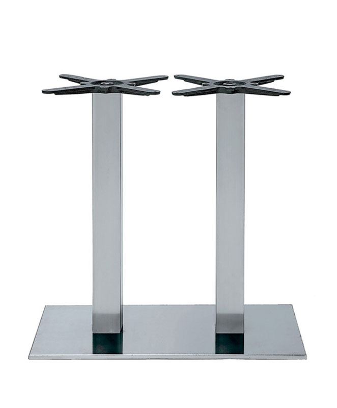 M0323 Pied De Table Double Chrome Le Mobilier Du Pro