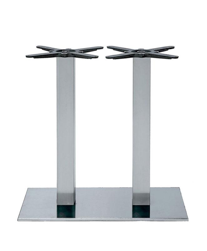 m0323 pied de table double chrom le mobilier du pro. Black Bedroom Furniture Sets. Home Design Ideas