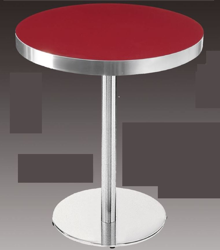 m0383 plateau de table rond avec bords alu le mobilier. Black Bedroom Furniture Sets. Home Design Ideas