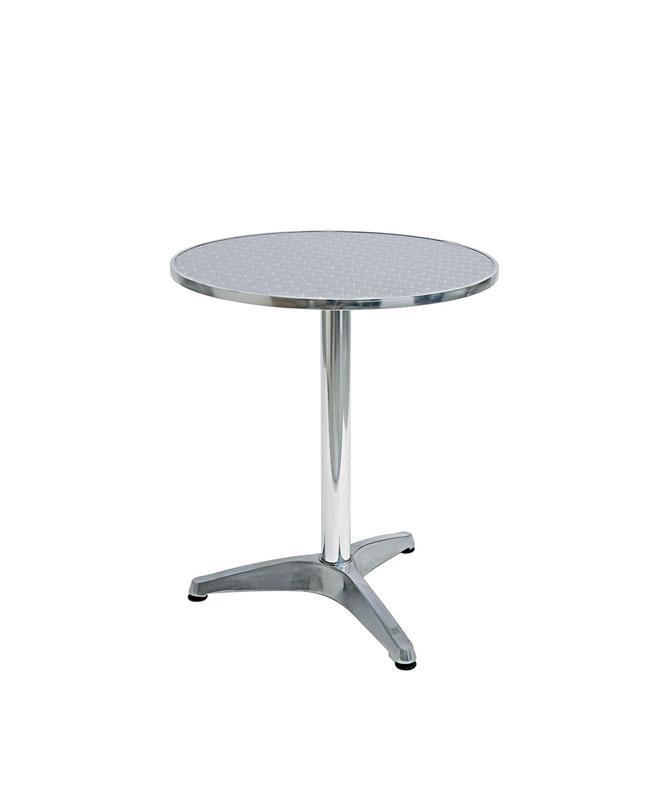 M0081 gu ridon complet en aluminium le mobilier du pro for Table en aluminium exterieur