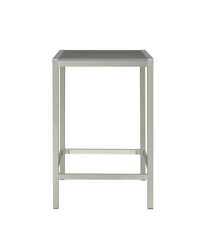 M0530 table haute en aluminium le mobilier du pro for Table d exterieur en aluminium